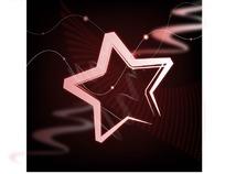 矢量光芒 粉红亮丽的五角星
