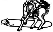 猴子骑马剪纸