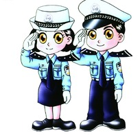 卡通警察 100DPI
