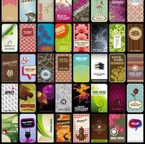 国外多款花纹卡片设计