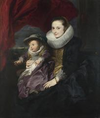 油画—女人和孩子的肖像