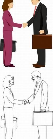 手绘卡通形象职场女性
