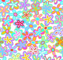 背景底纹彩色亮丽的五花瓣小花朵花纹