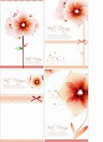 矢量美丽的花朵底纹插画模板
