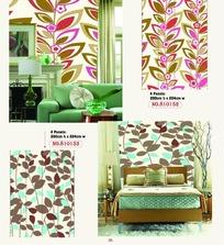 壁纸图案-彩色树叶图案