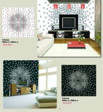 壁纸图案-大型蒲公英花朵图案
