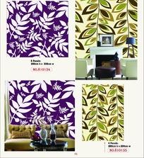 壁纸图案-简单树叶图案