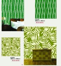 紧密的树叶条纹图案墙贴
