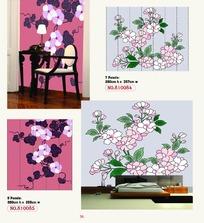 盛开的美丽花朵图案墙贴