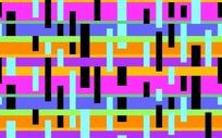 彩色背景蓝色黑色长方形图案