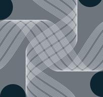 灰色背景上的半圆形和白色曲线