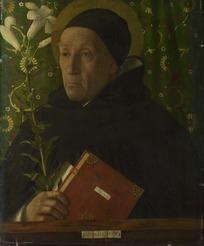 绘画艺术-穿着黑色衣服拿着书本的老妇人