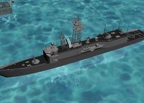 军用169雷达预警舰