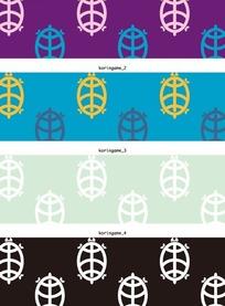 矢量底纹插图四款手绘长寿乌龟底纹横幅