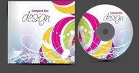 CD包装 动感彩色舞动的叶蔓线条