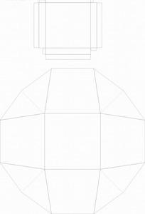 包装盒设计-刀模稿