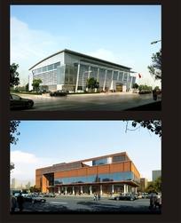 会议中心及周边配套建筑效果图