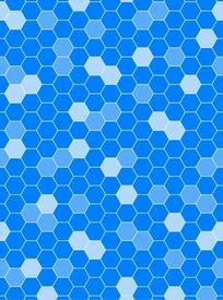 蓝色背景菱形蜂巢图案