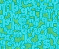 字母组成的时尚背景