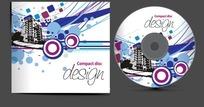 CD包装 潮流动感线条的城市高楼底纹