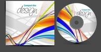 CD包装 舞动线条动感的音乐CD纸盒