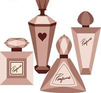 不同款式的香水瓶