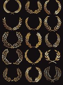 金色麦穗边框