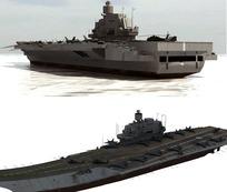 瓦良格航母3d模型(包含歼-15模型及贴图)