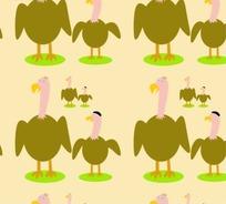 动物底纹—大小秃鹫构成的图案