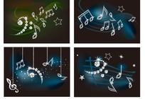 钻石珠子插画四款圣诞雪花和闪星吊饰集合图片