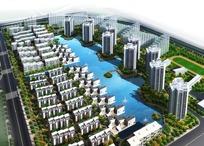 大型现代住宅小区鸟瞰图