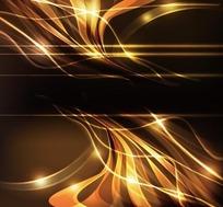 金色光线流线弧形背景
