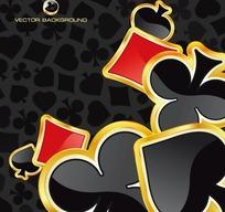 艳丽扑克牌花色图案