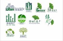 各种绿色绿城房产房地产标志设计