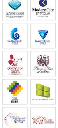 现代商业房地产楼盘标志合集-龙玺国际花园 时代新城