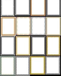 简单花纹装饰边框矢量素材