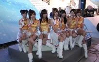 展会模特——展台上坐着的一群性感美女