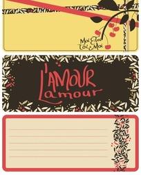 樱桃叶子信纸背景