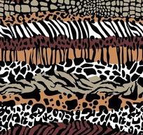 豹纹和虎皮纹以及蛇皮图案