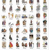 插画人物合辑—生活中的非洲人和西方人