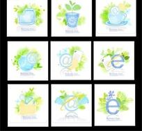 各种精美的蓝色主题标志系列二