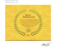 金色麦穗五角星花纹背景