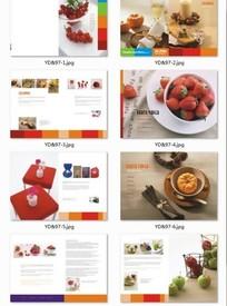 水果食物鲜艳颜色配色的食品画册