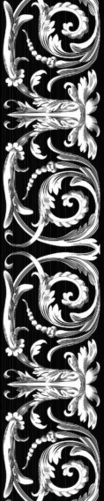 黑白民族植物花纹底纹图案
