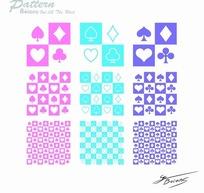 扑克牌花纹图案背景矢量素材