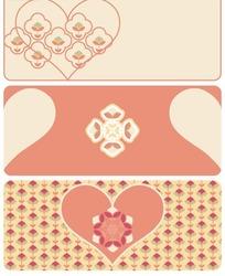心形花朵底纹图案