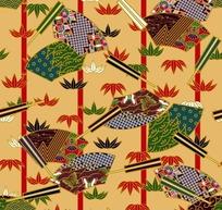 中国传统竹子花纹图案