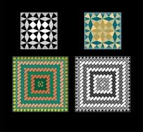 菱形三角形长方形底纹图案