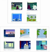 矢量插画 卡通办公室工作环境集合