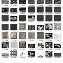 底纹合辑—各类植物和重复图案